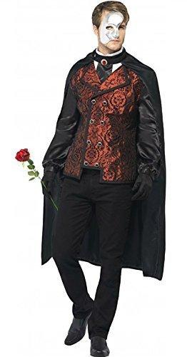 Herren Kostüm Phantom Der Oper - Herren Phantom Der Oper Maskenkostüm Mittlere Und Große Größen - Herren Gr. L