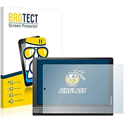 BROTECT AirGlass Protector Pantalla Cristal Flexible Transparente para Lenovo Yoga Tab 3 Plus Protector Cristal Vidrio - Extra-Duro, Ultra-Ligero,