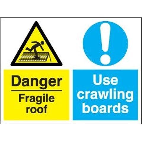 Multi-usos de seguridad con texto en inglés - aplique para salida del conducto frágil Danger/uso las tablas de cortar tienen gatear (1 mm plásticos rígidos de gran/400 x 300 mm)