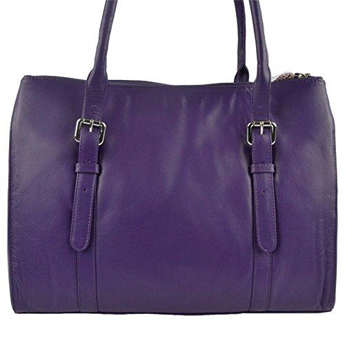 Mala Leather, Borsa tote donna Viola (viola)