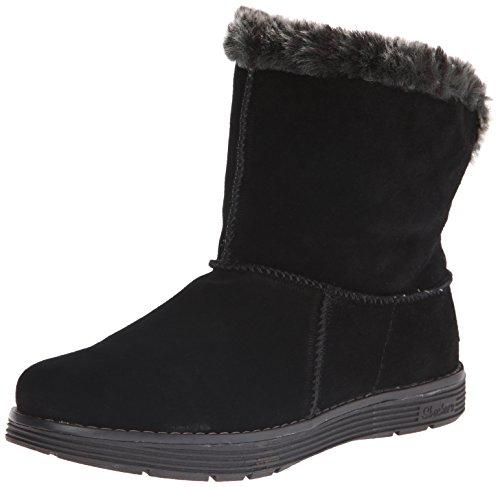 Skechers AdorbsPolar Damen Halbschaft Stiefel, Schwarz (Black), 40 EU (Skechers Fashion Stiefel)