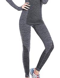 EOZY Femme Leggings Moulant Running Fitness Pantalon Sport Haute Taille