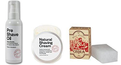 executive-shaving-soluble-dans-leau-pre-rasage-huile-100ml-et-100ml-naturel-creme-de-rasage-avec-75g