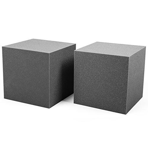 Trampa de Graves Corner Studio Pro. Set Bass Trap de 2 piezas de 30x30x30cm. Espuma acústica para bajas frecuencias o graves. Instalación en esquinas.