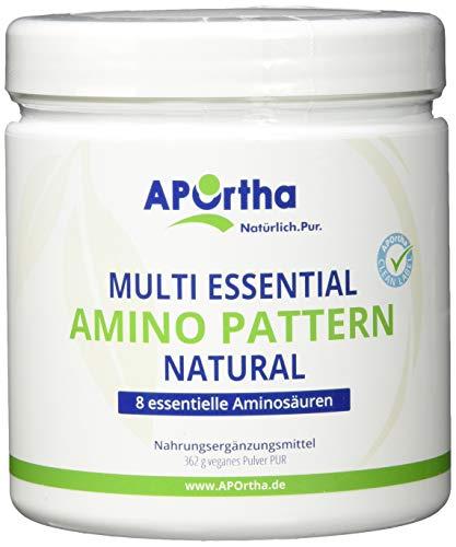 APOrtha Multi Essential Amino Pattern | 8 verschiedene essentielle Aminosäuren | 362g Pulver | vegan