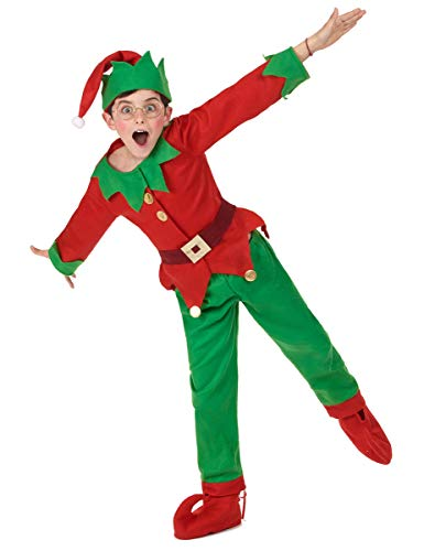 Generique - Weihnachts-Elfen Kostüm für Kinder 104/116 (4-6 -