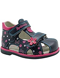 3cf224dffd96 Apakowa Boy s and Girl s Double Adjustable Strap Closed-Toe Sandals  (Toddler)