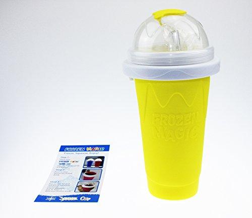 Squeeze Cup Slushy Maker - Gobelet Pour Granités – Couleur Jaune [ARTUROLUDWIG]