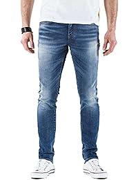 Meltin'Pot - Jeans MISFITS D0120-UK285 para hombre, estilo skinny, ajuste ceñido, talle baja