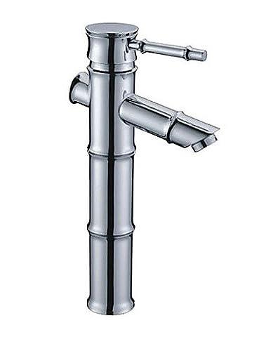 khskx Chrome Finish Messing Waschbecken Wasserhahn–Bambus Form Design