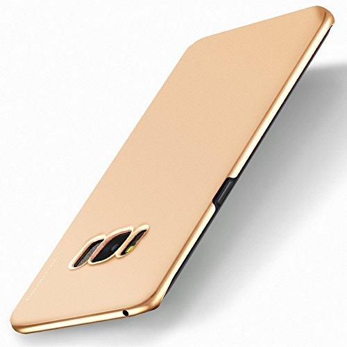 Galaxy S8 Hülle, X-level [Kinght Serie] Hart Handlich [Golden] Premium PC Material Gutes Gefühl Handyhülle Schutzhülle für Samsung Galaxy S8 Case Cover