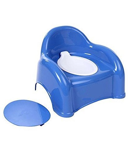Honey Bee 2 in 1 Baby Potty Seat Cum Chair,Potty Seat (Blue)