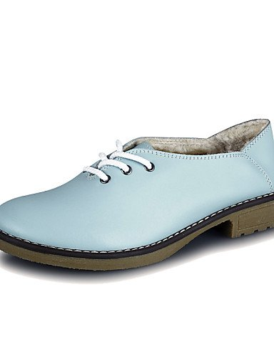 ZQ hug Scarpe Donna-Stringate-Tempo libero / Casual-Comoda-Basso-Di pelle-Blu , blue-us5.5 / eu36 / uk3.5 / cn35 , blue-us5.5 / eu36 / uk3.5 / cn35 blue-us8 / eu39 / uk6 / cn39