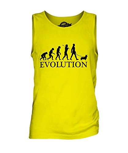 candymix-welsh-corgi-evoluzione-umana-canotta-da-uomo-taglia-large-colore-giallo-limone