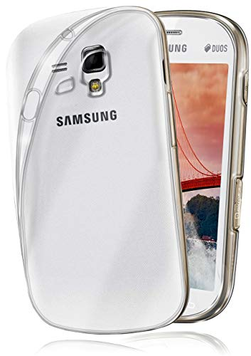 MoEx® Coque Transparente Compatible Samsung Galaxy S3 Mini | antidérapante/très Fine, Transparent