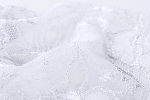 Cszxx Strumpfhalter Damen 4-Strap Lace Strumpfhosen Strapse (Weiß) - 3
