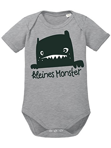 clothinx Baby Body Unisex Kleines Monster Sports Grey Größe 62-68 (Mutter Neugeborenen Halloween Kostüme)