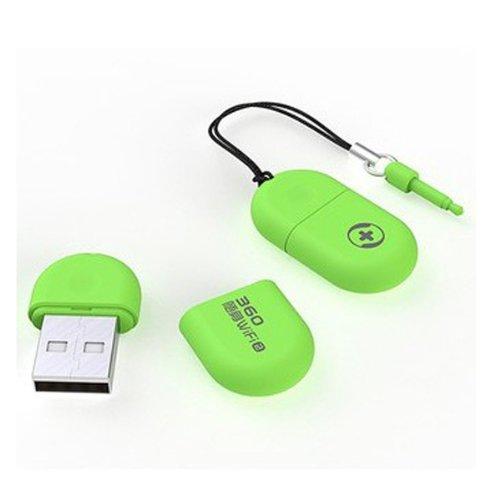 Mini Wireless Router WiFi Signal 2 Siebdruckfarben & 10T Cloud USB Flash Disk - Grün -