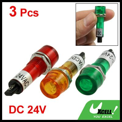 sourcingmap® 3 Stk 2 Terminals Neon Lampe Pilot Anzeigeleuchten DC 24V de
