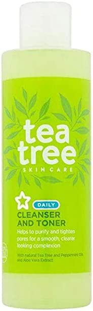 Superdrug S/D Tea Tree Cleanser Toner 200ml, 200 Pieces