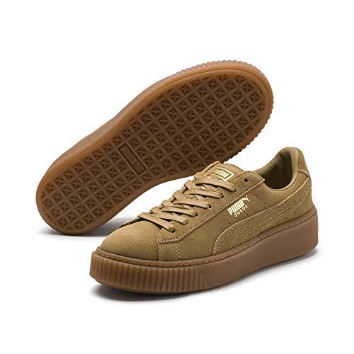 Puma Suede Platform Damen Sneaker Oatmeal-Gold 5 - Air Jordan Basketball-sneakers