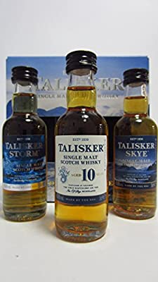 Talisker Gift Set 3x5cl Miniatures Collection Pack - Storm, Skye and 10 Year Old