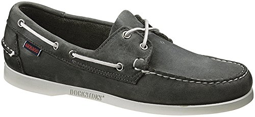 Sebago Docksides, Chaussures Bateau Homme Gris (Smoke Waxy Leather)
