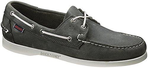 Sebago Herren Docksides Bootschuhe Grau (Smoke Waxy Leather)
