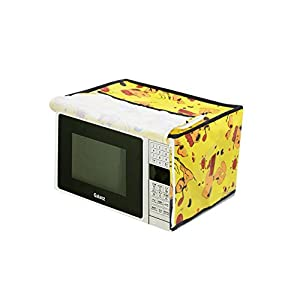 Furnishing Kingdom Yellow Microwave Oven Cover for 20 Liter