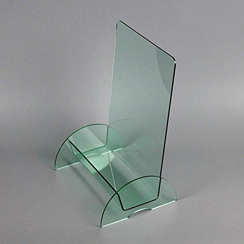 Porte-magazines et porte-journaux Transparent Magazine Étagères Acrylique Green Creative Desktop A4 Incorporated Single Layer Brochure