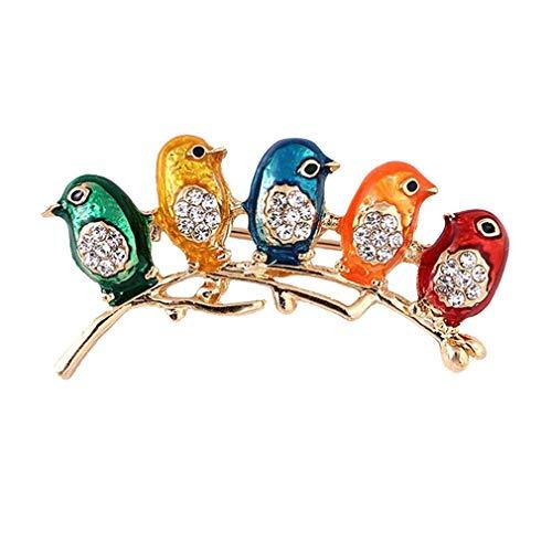 Carry stone Bunte kleine Vögel Brosche Pins Legierung u0026 Kristall Brosche Schmuck Geschenke nützlich und praktisch (Pin Vogel Brosche)