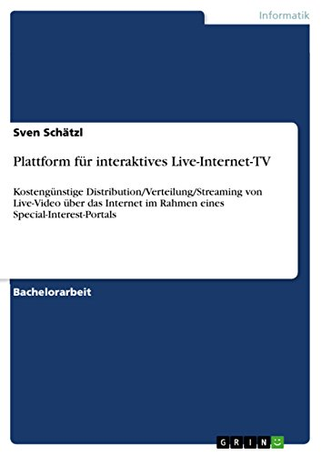 Plattform für interaktives Live-Internet-TV: Kostengünstige ...