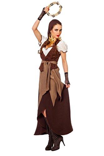 Karneval-Klamotten' Kostüm Zigeunerin Piratin Dame Karneval Pirat Damenkostüm 56
