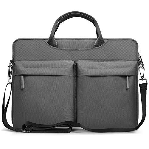 EKOOS Laptoptaschen Schultertasche, Business Aktenkoffer Tasche Hülle wasserdichte Notebook Tasche Kompatibel mit Microsoft Surface Pro MacBook Pro (Grau, 13-14 Zoll)