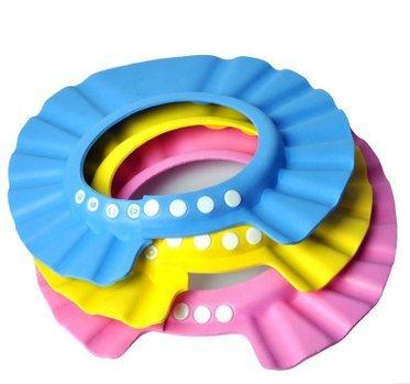 SROVFIDY Fashion Galerie baby Baden Hut Schampoo Dusche Wasser schützen Mütze super weiche Kappe Hut für Baby Kinder (Blue) - Blue Galerie