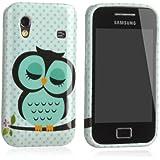 tinxi® Schutzhülle für Samsung Galaxy Ace S5830 S5830i Hülle TPU Silikon Rückschale Schutz Hülle Silicon Case mit Eule Owl Muster in Hellgrün