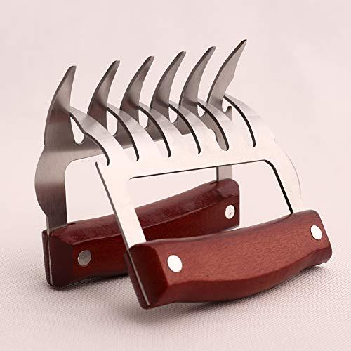 RIYUEMING Metallklauen für Aktenvernichter, rostfreier Edelstahl, Holzgriff, Rot
