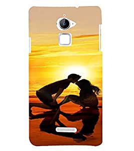 PrintVisa Lovers Beach Sunset Couple Design 3D Hard Polycarbonate Designer Back Case Cover for Coolpad Note 3 Lite