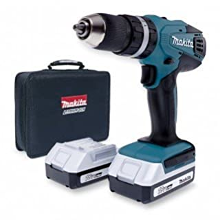 Makita HP457D 18v Li-Ion Cordless Combi Hammer Drill with 2 x Makita BL1813G Batteries and 1 x Makita DC18WA Charger and Canvas Carry Bag , Fulfilled by Amazon