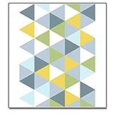 GHGMM Tappetino Carpet,Tappeto Soggiorno Nordic Geometria personalità casa Pieno Negozio Semplice Antiscivolo Personalizzato Tappeto Tappetino Camera da Letto,YellowA,80 * 125CM