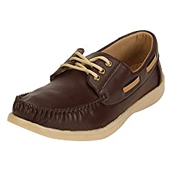 Quarks Mens Brown Synthetic Smart Casual Shoes Q1110BR-10