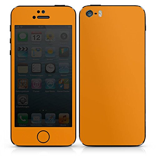 Apple iPhone 5 Case Skin Sticker aus Vinyl-Folie Aufkleber Karotten Farbe Orange DesignSkins® glänzend