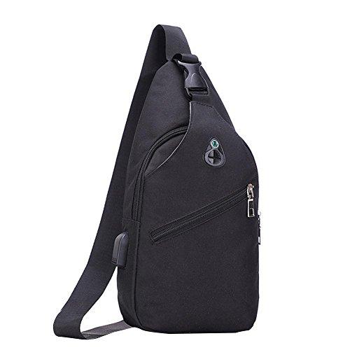 c1757e2462 Bolsillo en el pecho sling Bag Mochila Bolsa de hombro Crossbody Sling  Bandolera Daypack Sling Backpack para hombre y mujer para senderismo  ciclismo ...