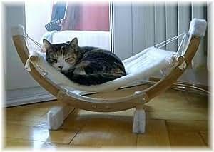 Katzen-Plüsch-Hängematte Siesta weiß oder getigert mit