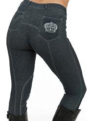 Sherwood Forest Bramble - Pantalones de hípica para mujer, tamaño 10 UK, color azul marino / gris