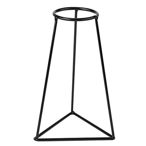 Metall Vase Rahmen, Schwarz Eisen Blumenvase Rahmen Pflanzenhalter Blumenständer Indoor Cafe Home Dekoration(E)