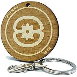 LIKE-TAG® Esperanza símbolo Adinkra llavero original de madera grabado regalo para mujer hombre cumpleaños pasapiempo colgante bolso mochila