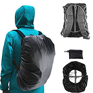 41gip6awj7L. SS300  - Frelaxy Waterproof Backpack Rain Cover, 15-90L Rucksack Covers for Hiking, Camping, Cycling