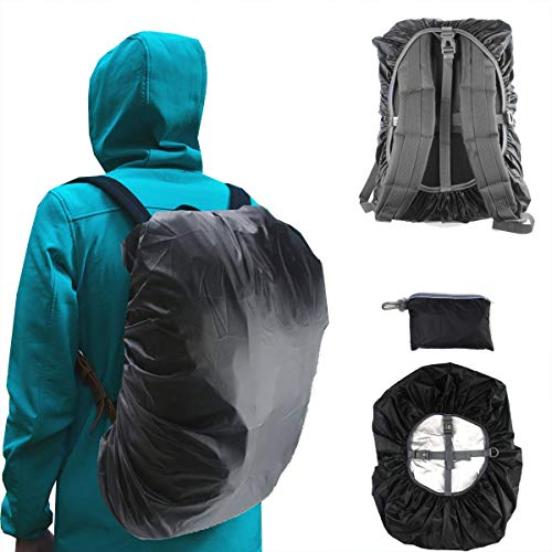 41gip6awj7L. SS500  - Frelaxy Waterproof Backpack Rain Cover, 15-90L Rucksack Bag Cover with Upgraded Non-Slip Cross Buckle Strap & Rainproof Storage Pouch & Silver PU Coating, Perfect for Outdoor Activities