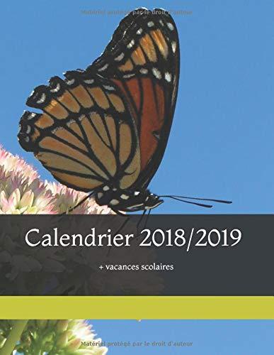 Calendrier 2018/2019 + vacances scolaires: Une conjugaison français/anglais par mois par  Angélique Manot